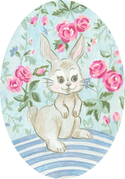 Art journal free printable gift tags violet cottage happy little bunny negle Choice Image